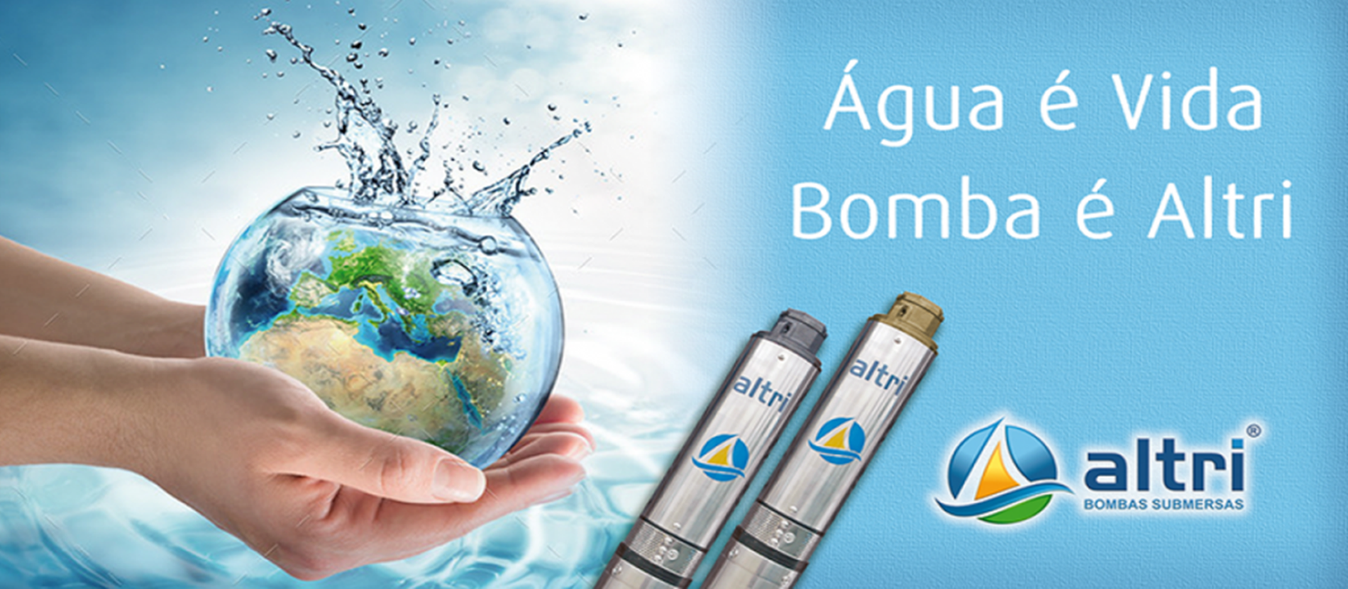 agua é vida bomba é altri